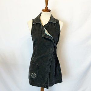 cop.copine jeans grey vest sleeveless jacket S